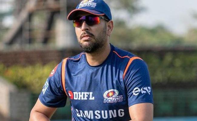 Yuvraj Singh joins Mumbai Indians preparatory camp ahead of IPL 2019 - Sakshi