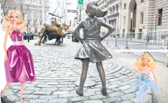 Barbie Place is a new toy named Fearless Girl - Sakshi