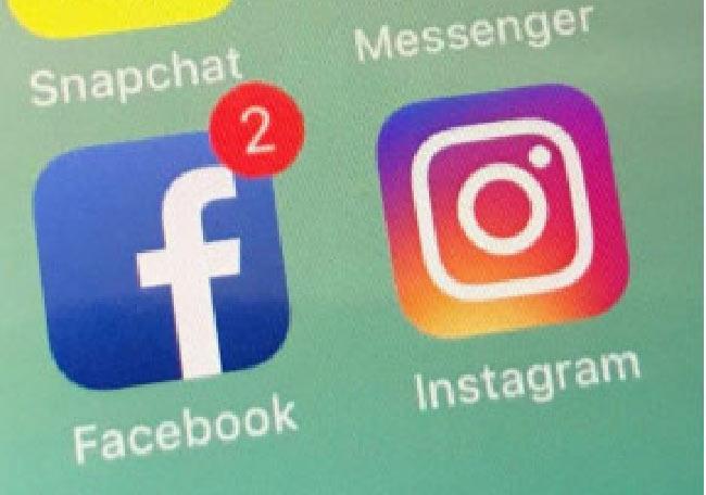 facebook and instagram 12 hours interrupted - Sakshi