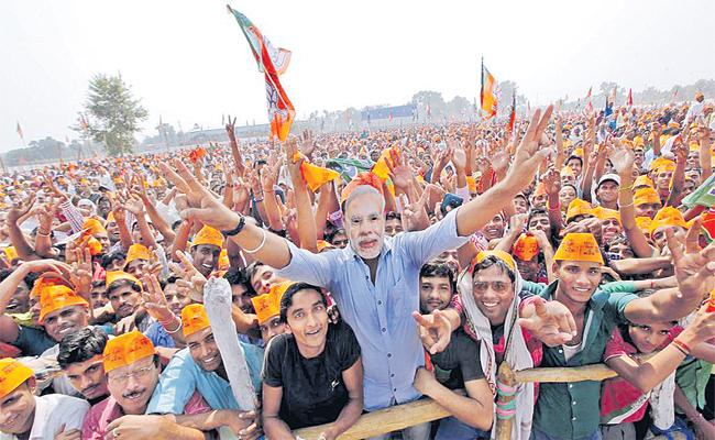 BJP Graph Hikes From Five Years - Sakshi