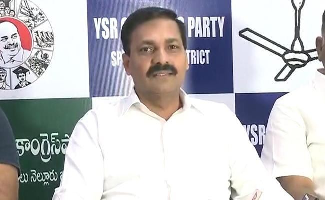 Krishnapatnam Port Is Only Because Of YSR Says Kakani - Sakshi