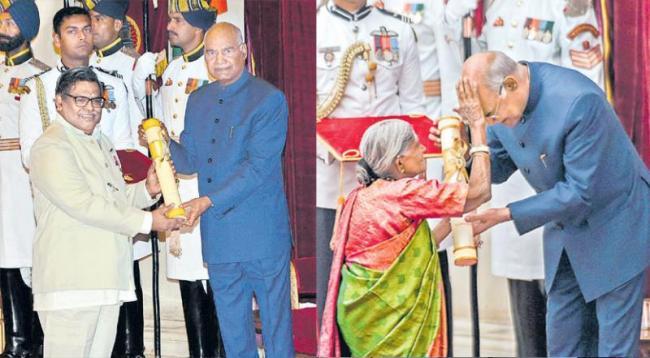 Telugu lyricist Sirivennela Seetharama Sastry conferred the Padma Shri - Sakshi