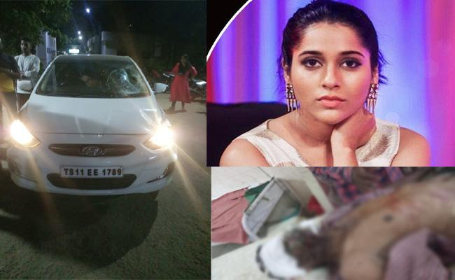 Lorry Driver Injured in Anchor Rashmi Car Accident Visakhapatnam - Sakshi