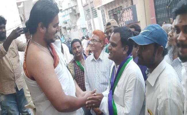 YSRCP Kadapa MLA Candidate Amjad Bhasha Canvass - Sakshi