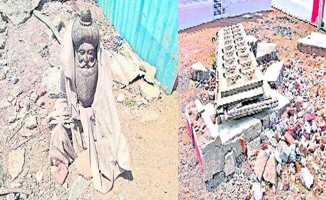Contractors Neglection In Yadadri Reconstruction  - Sakshi