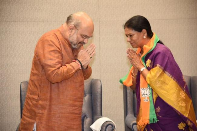 BJP to come to power there to fulfill people aspirations, says DK aruna - Sakshi