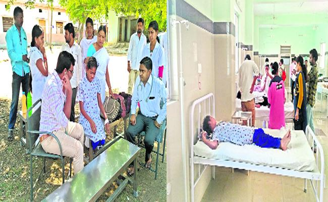 Govt Girls Hostel Students Fall Ill Due To Water Contamination - Sakshi
