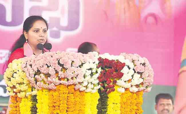 Kavitha At public Meeting In Nizamabad - Sakshi