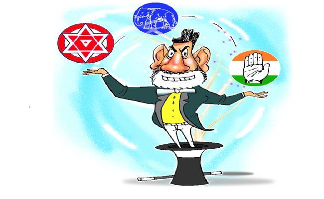 Chandrababu Secret Alliance Alliance With Janasena And Congress - Sakshi