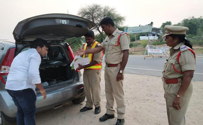 Tight Security During Loksabha Elections By Police - Sakshi