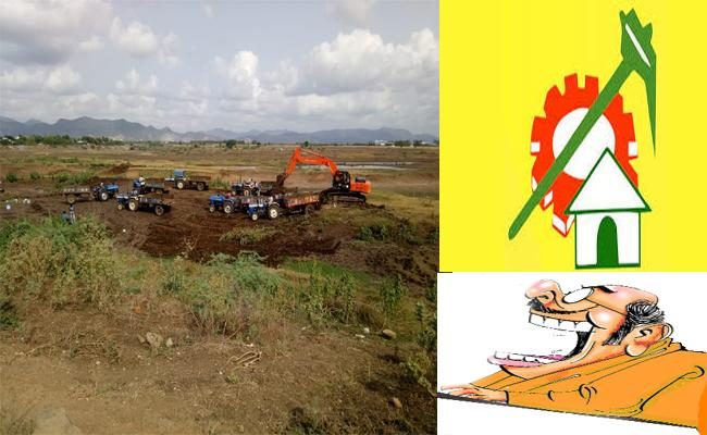 Corruption of TDP leaders Not Only Money Even Sand Mining - Sakshi