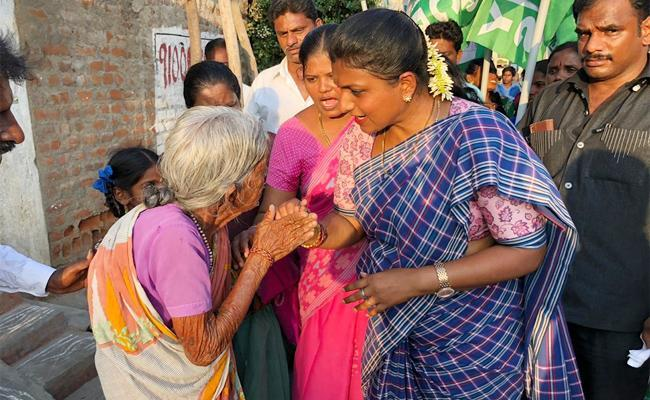 RK Roja And Other YSRCP Leaders Files Nomination Over AP Elections 2019 - Sakshi