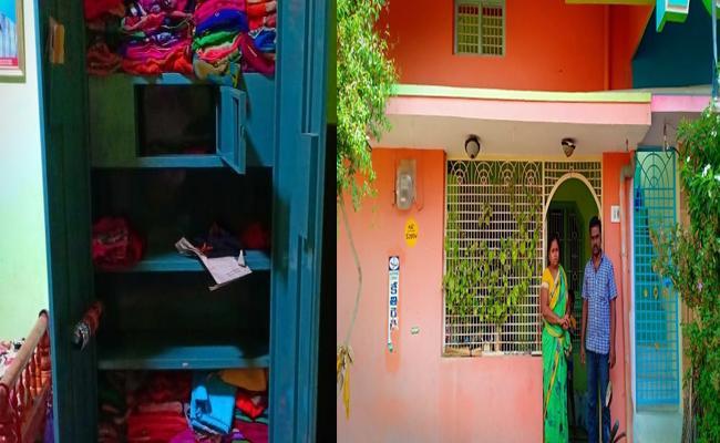 Burglars Attacked In House Near Dharmavaram Police Station - Sakshi