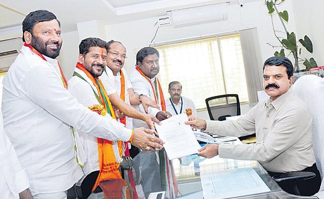 Malkajigiri Lok Sabha Congress candidate Revanth Reddy - Sakshi