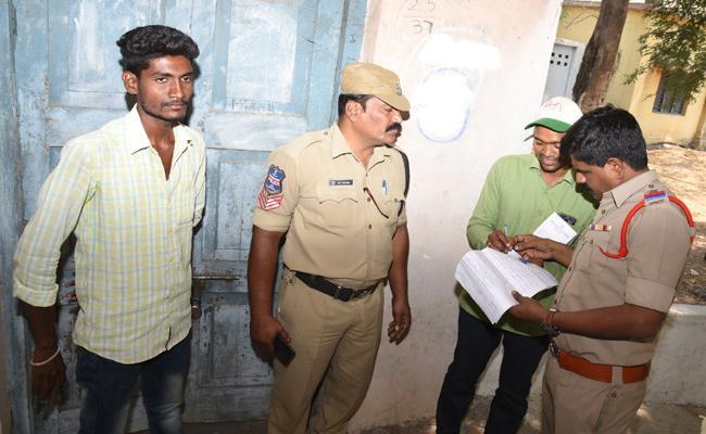 Person Took Selfie While Voting Arrested - Sakshi