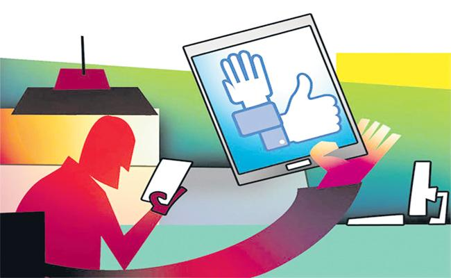 Social Media Sites Announced to Election Commission on Campaign - Sakshi
