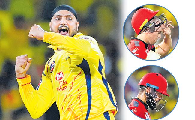 CSK Beat RCB By 7 Wickets  - Sakshi