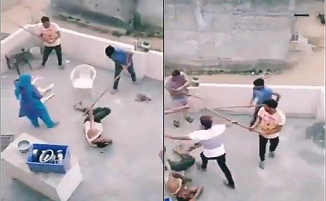 Brave Gurugram woman Captured Mob Attack On Muslim Family - Sakshi