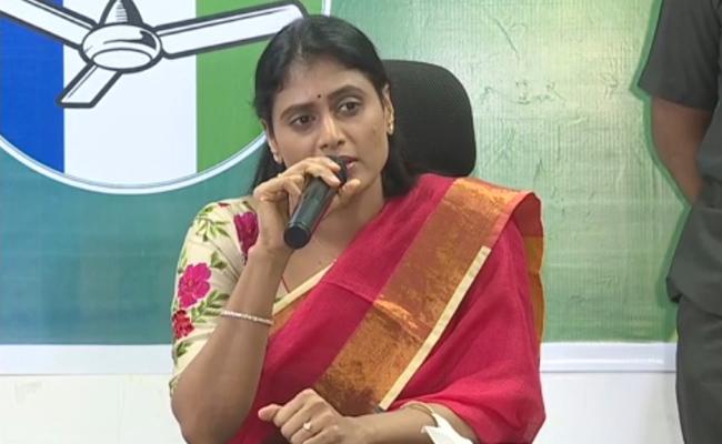 YS sharmila press meet at amaravathi - Sakshi