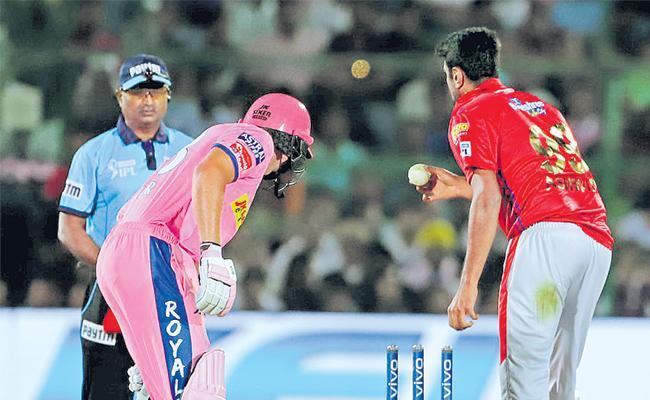 Controversy erupts as Ashwin mankads Buttler - Sakshi