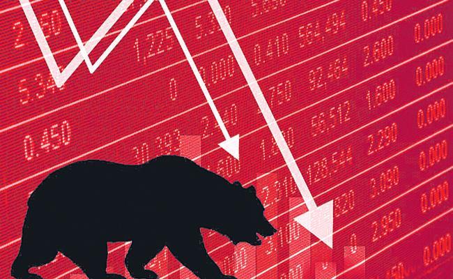 Sensex joins global selloff, falls 355 points; Jet Airways surges 13% - Sakshi