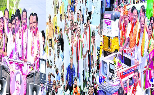 MP Candidates Nomination Process Campaign In Nalgonda - Sakshi