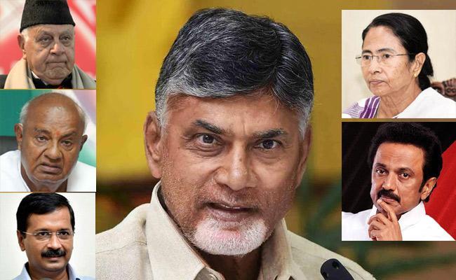 Chandrababu Caste Politics With National Leaders - Sakshi