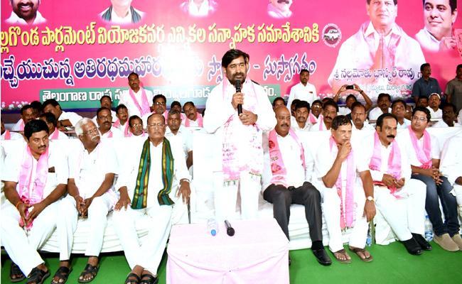 TRS Minister G Jagadish Reddy Election Campaign In Nalgonda Constituency - Sakshi