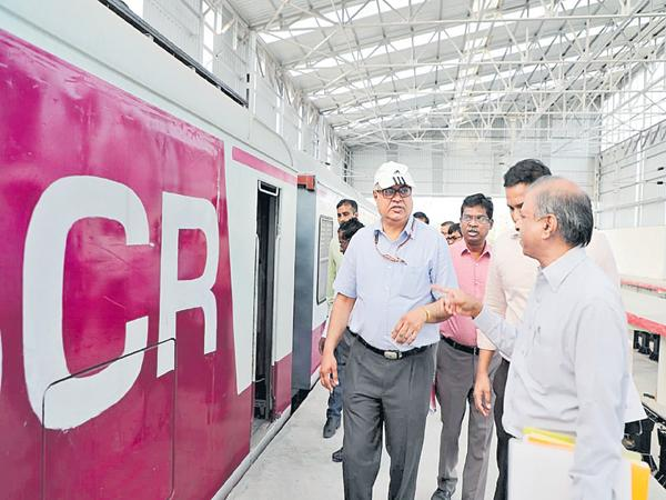 New look to the MMTS trains - Sakshi