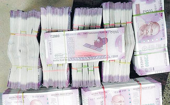 Police seized Rs 18644340 cash on Wednesday - Sakshi