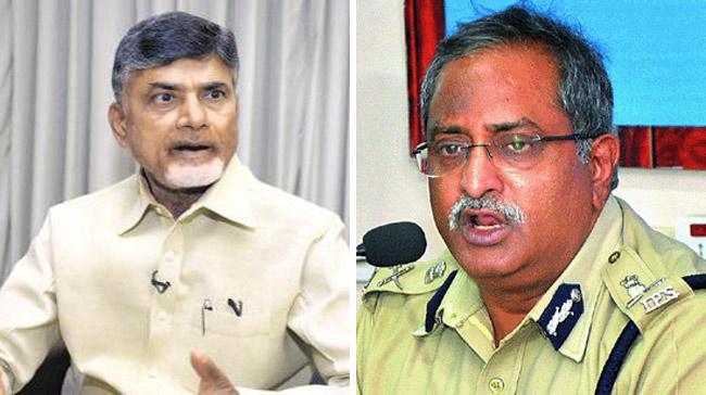 AB Venkateswara rao Meets Chandrababu Naidu - Sakshi