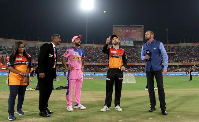 Unchanged Rajasthan opt to bat, Williamson returns For SRH - Sakshi
