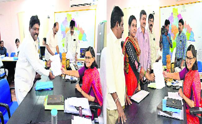 Thirteen Members Withdrew Nominations In Yadadri Bhongir - Sakshi