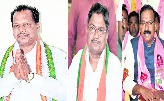 Competition Among Three Main Parties In Mancherial - Sakshi