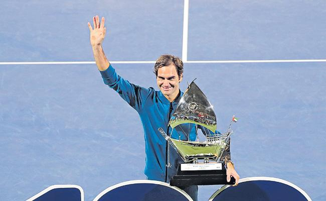 Tennis world reacts to Roger Federer 100th singles title - Sakshi