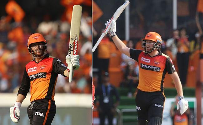 Warner, Bairstow put on Rapid Century Stand Against RCB - Sakshi