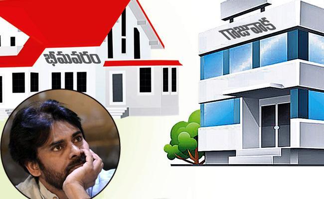 Pawan kalyan moves into rented house in Gajuwaka - Sakshi
