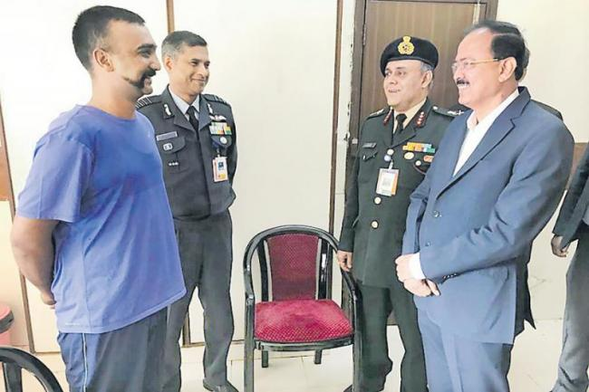 IAF Pilot Abhinandan Varthaman suffered spine rib injury - Sakshi