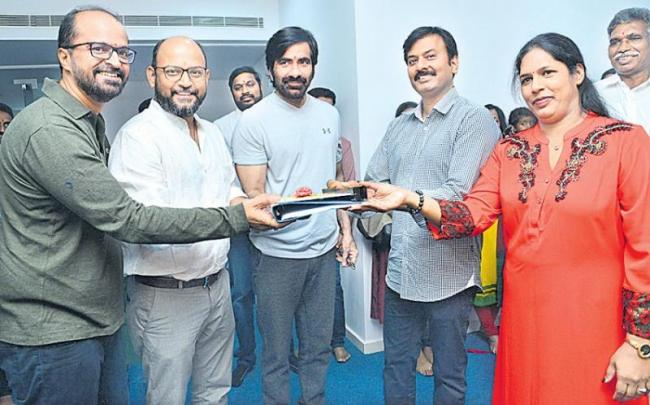 ravi teja disco raja movie launch - Sakshi