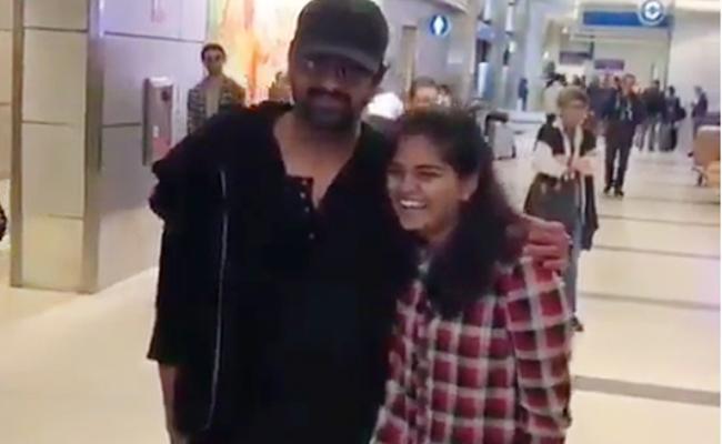 Crazy Prabhas Fan Slaps Him After Taking Selfie - Sakshi