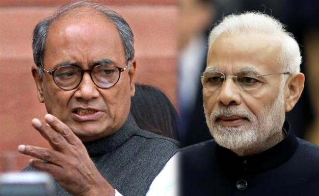 Digvijaya Singh dares Narendra Modi to prosecute him over Accident comment - Sakshi