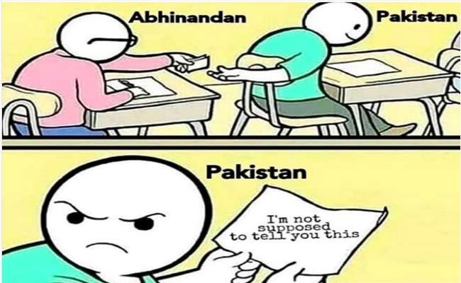 Smriti Irani Shares A Meme On Abhinandan Varthaman - Sakshi