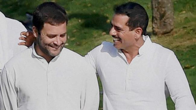 BJP says Robert Vadra is now eligible for Bharat Ratna - Sakshi
