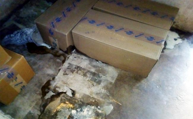 Vijaya Milk Packets Wastage in Chittoor Anganwadi Centres - Sakshi