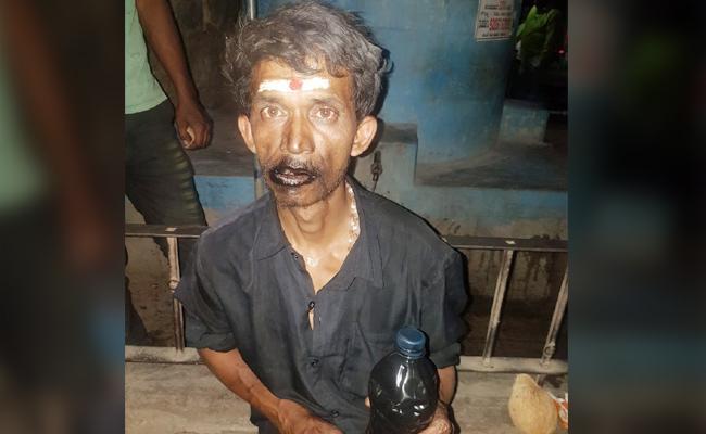 Man Drinking Engine Oil in Karnataka - Sakshi