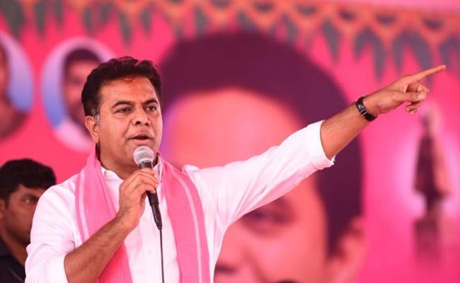 TRS Working President KTR Slams Both Congress And BJP In Hyderabad - Sakshi