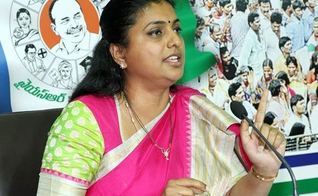 RK Roja Calls Chandrababu Naidu As Data Baba - Sakshi