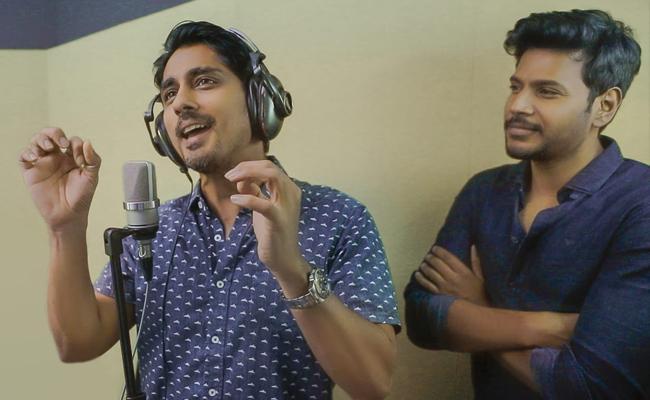 Siddharth sings Excuse Me Rakshasi Song for Sundeep Kishan - Sakshi