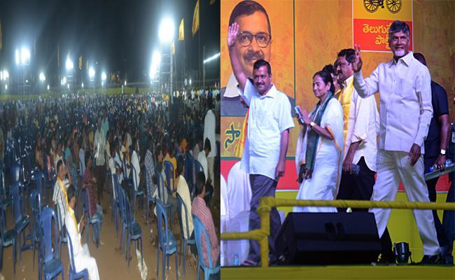 Chandrababu Naidu Public Meeting Flop In Visakhapatnam - Sakshi
