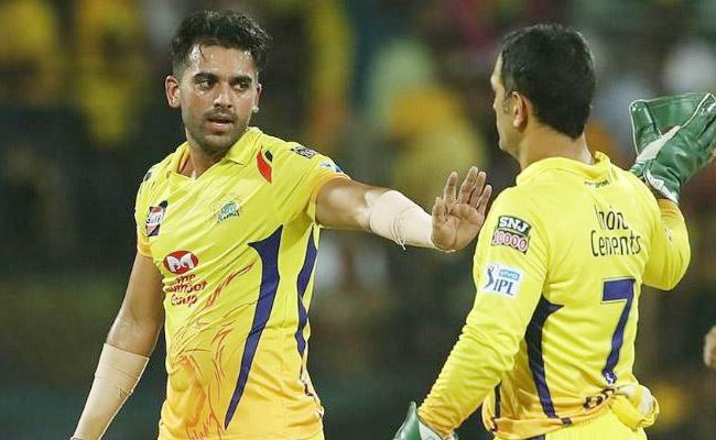 Deepak Chahar Says Dhoni Does Not Tell Much But Gives Key Inputs In Crucial Times - Sakshi